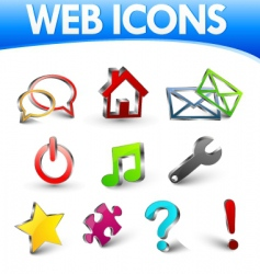 web icons 1 vector image
