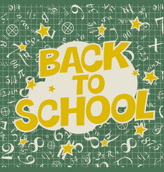 Welcome back to school poster back to school text vector