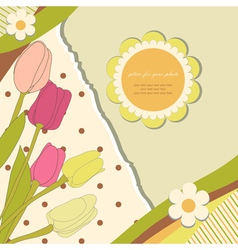 Baby flowers background vector image