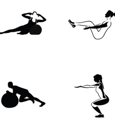Fitness exercise vector