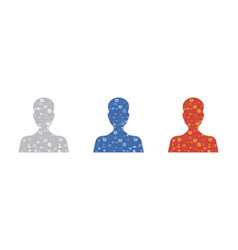 Set universal avatar picture with pattern for vector