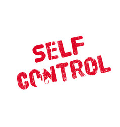 Self control rubber stamp vector