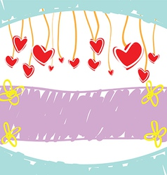 sketch drawing love banner vector image