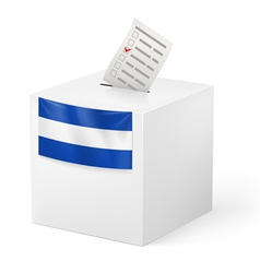 Ballot box with voting paper El Salvador vector image