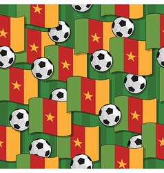cameroon football pattern vector image