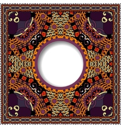 Decorative pattern of ukrainian ethnic carpet vector