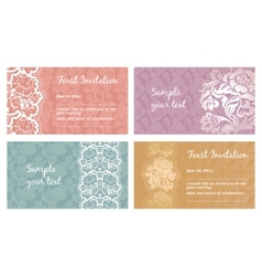 Lace flower greeting card vector