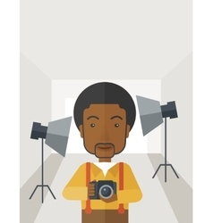Photographer in studio vector