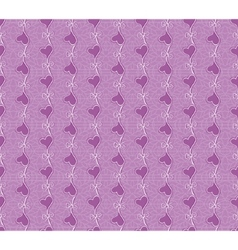floral seamless lace pattern with heart flower vector image