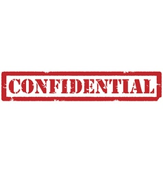 Red confidential stamp vector