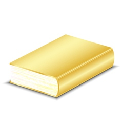 gold book vector image