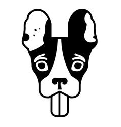 Head of the french bulldog vector