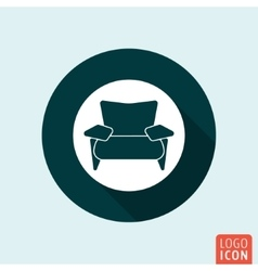 Armchair icon isolated vector