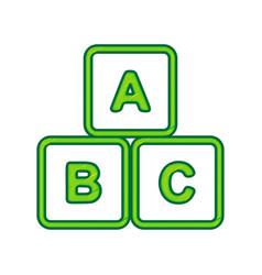Abc cube sign lemon scribble vector