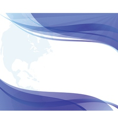 abstract wavy blue and white background vector image