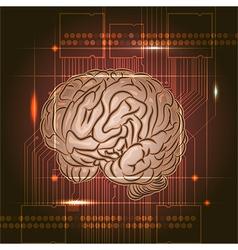 Brain board vector