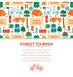 Camping equipment background vector image
