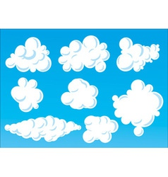 cartoon funny clouds vector image