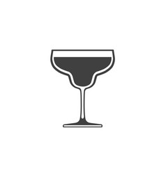 cocktail glass icon isolated on white background vector image