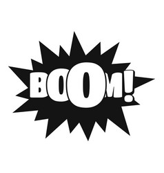 Comic boom big icon simple black style vector