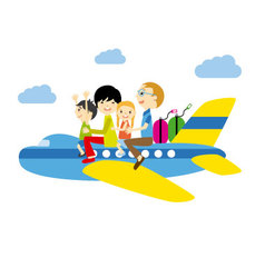 Family traveling vector