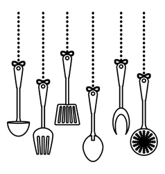 figure kitchen utensils icon image vector image vector image