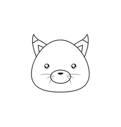 Fox drawing face vector