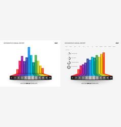 Full editable infographic flat chart vector