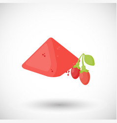 Goji berries powder flat icon vector