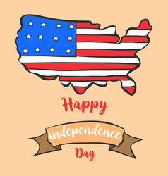 Greeting card independence day style collection vector