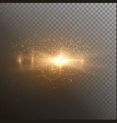 Lens flare realistic flare glow effect vector