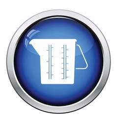Measure glass icon vector image vector image
