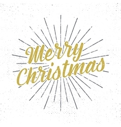 Merry christmas lettering holiday typography vector