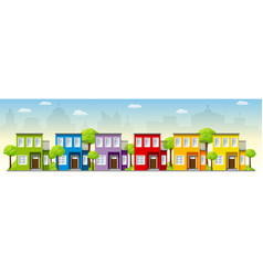 modern houses in the suburbs vector image