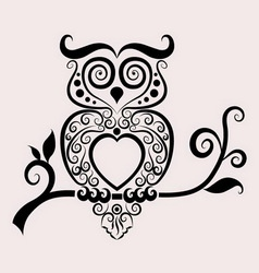 Owl ornament vector
