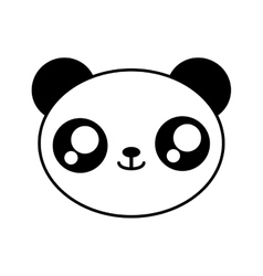 Panda bear kawaii cute animal icon vector