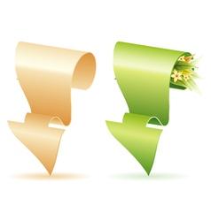 paper arrow vector image