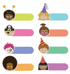 party kids tabs vector image vector image