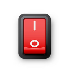Red pc electric switch vector