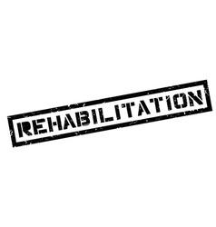 Rehabilitation rubber stamp vector