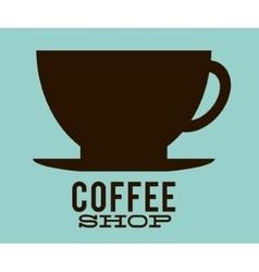 Silhouette coffee mug design vector