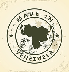 Stamp with map of Venezuela vector image vector image