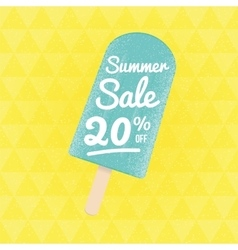 Summer sale 20 per cent off vector