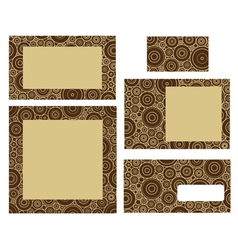 Template for business vector image vector image