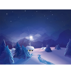 winter night vector image vector image