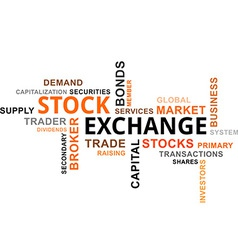 Word cloud stock exchange vector