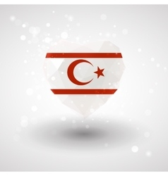 Flag of northern cyprus in shape diamond glass vector