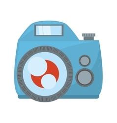 Photo camera flash picture beach vector