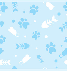 Pattern for pets kitty vector