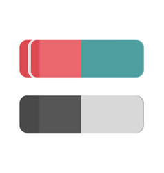 school rubber icon eraser office tool vector image